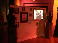 Jurassic Lounge 2013: Film night, rotating images on a film wall installation.