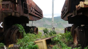 The broken and polluting mine in Bougainville in PNG.