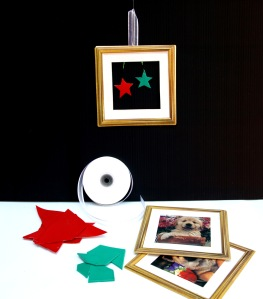 Frame decorations - use old frames (or grab some plastic ones from RG) and fill with your faveourite Christmas shapes. We have EVA skins and card you can use for the shapes!